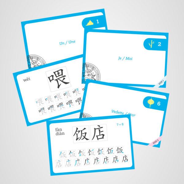 Memory cards pour apprendre le chinois avec Beijing Cursus